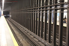 NYC Subway (katepurdy) Tags: city newyork subway iron perspective rails linear
