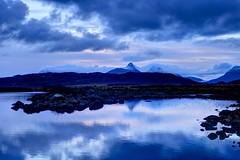 Fish and bird (pauldunn52) Tags: blue reflection sunrise stac pollaidh lochan dubh coigach cloudsstormssunsetssunrises