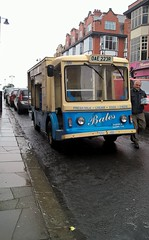 Milkman dying breed. (Lazenby43) Tags: milk transport bates van dairy southport deliveryman electricvehicle