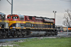 Kcs Ace in need of a little help. (Machme92) Tags: railroad america nikon rail row american rails railfan wrecks railroads kcs railroading railfanning kansascitysouthern railfans nikond7200