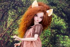 Fennec ears and tail for MSD (AnnaZu) Tags: miniature doll head parts tail ears fimo fantasy clay fox bjd commission fairyland fennec msd polymer minifee rheia bjdprops annaku dollstagram vesnushkahandmade annazu