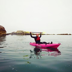 Rockin the pink yak 😁👍👍👍👍 Thanks to Pismo Beach Surf Shop for sending us awesome photos on our limited edition pink #kayaks !  Be sure to pick one up today for a limited time! #MalibuKayaks #kayakfishing #fishing #