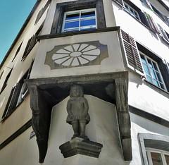 Chur (micky the pixel) Tags: sculpture building schweiz switzerland suisse skulptur chur altstadt gebude fassade erker sgraffito graubnden grischuna