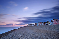 Aldeburgh Beach Front. (Andy Bracey -) Tags: longexposure sunset sea seascape beach landscape evening coast suffolk shoreline explore pebble coastal northsea seashore aldeburgh beachfront converging paintedhouses bracey leefilters bigstopper andybracey aldeburghbeachfront