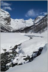 Piani di Verres, inverno - Verres's plans, winter (Matteo Bersani) Tags: winter sky snow alps river fiume cielo neve monterosa inverno alpi ayas valdaosta a58 montagnamountain sonyalphaitalia