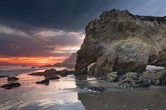Matador Stacks (AaronDDS) Tags: sunset cliff beach rock landscape losangeles outdoor malibu canon5d rockformation matador canon1740mml luminositymasks