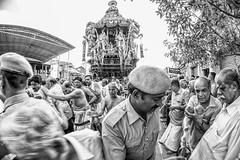 Ther Festival (rameshsar) Tags: people india festival religion chennai 8mm ther templecar triplicane rokinon parthasarathytemple xe2 brahmaothsovam