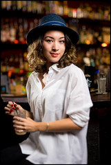 truffauxdownbeat490 (crosscolin) Tags: portrait fashion hawaii chinatown oahu sony einstein hats drinks hi panama tilt downbeat a7ii strobist truffaux