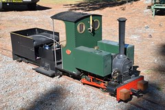 Mini_Bagnall_McLeansIsland_09April2016 (nzsteam) Tags: price train island traction engine railway scene steam engines locomotive boiler boilers mcleans sawmilling