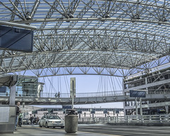 PDX Arrivals (Willamette Valley Photography) Tags: architecture oregon portland outside outdoors airport olympus terminal pacificnorthwest pdx arrivals