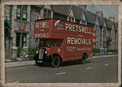 1948 Morris Commercial - colourised (David Pretswell.) Tags: old van removals newcastleupontyne heaton pantechnicon pretswell