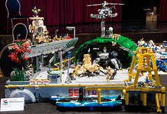 Sentai space base, Niihama Prefecture (KLIKK Hungarian LEGO Fan Community) Tags: show station japan japanese hungary lego space exhibition base moc afol klikk kockafeszt