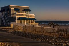 Manhattan Beach Sunset (erniezahn) Tags: ocean ca sunset sky beach landscape waves bluesky manhattanbeach 90210 beachhouse