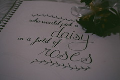 Roses > Daisies (alexisong0616) Tags: roses black flower rose ink handwriting paper daisy calligraphy cursive handlettering handdrawn calligraphypen