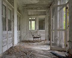 NJ TB Hospital (Jonnie Lynn Lace) Tags: fallleaves fall abandoned hospital newjersey ruins decay nj porch peelingpaint derelict decayed decaying tb modernruins abandonedhospital abandonedchair tbhospital abandonednj abandonedamerica abandonednewjersey