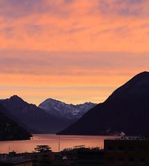 Quick sunset from my window... (Alex Switzerland) Tags: sunset lake window canon lago eos switzerland see ticino tramonto lac svizzera lugano paradiso 6d luganese ceresio