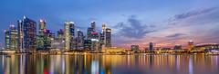 Singapore Skyline (-=Wacky B=-) Tags: longexposure nightphotography sky water night marina singapore marinabay longexposuresatnight wackyb marinabaysands marduk360 canon5dm3 canon1635mmf4