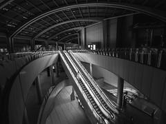 In the Still of the Night (marco ferrarin) Tags: japan architecture night tokyo still escalator shiodome siosite