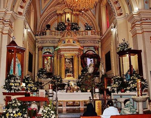 Altar Mayor, Templo de Santiago Xalitzintla, Sn. Nicolás de los Ranchos, Pue.