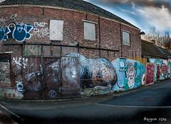 The bull corner (ericbaygon) Tags: street urban abandoned town nikon paint belgium decay tag bull peinture rue antwerpen ville vache dx urbain graffitis doel taureau nikonpassion d300s