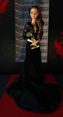 """Who are you wearing?!"" (MaxxieJames) Tags: red black film movie carpet doll dolls dress secret barbie move velvet made actress teresa brunette gown manor premier mattel collector vittoria the blutmere"
