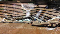 Fort Worth Water Gardens (dckellyphoto) Tags: people water fountain concrete flow waterfall texas modernart bottom group sunny lookingdown philipjohnson cascade fortworth cascading urbanpark 2016 johnburgee fortworthwatergardens