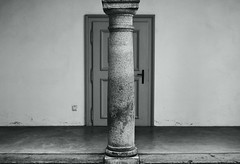 \\ (ludovicapalumbo) Tags: door old light blackandwhite art history architecture contrast holocaust loneliness symmetry human silence column auschwitz