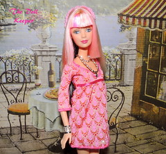 Fashion Fever Tokyo Pop Pink Hair Barbie (The doll keeper) Tags: pink face fashion hair tokyo doll barbie pop mackie fever