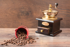Retro coffiee grinder, mill and coffee beans on brown background (sevda.stancheva) Tags: life wood old morning red food brown black hot mill cup coffee shop breakfast vintage dark handle wooden cafe beans still ancient natural drink antique background traditional rustic beverage seed bean fresh retro gourmet mocha espresso taste caffeine grind grinder tool roasted aroma ingredient