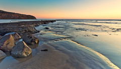Exposed to the light (Through Bri`s Lens) Tags: beach dawn rocks yorkshire firstlight robinhoodsbay brianspicer lee09softgrad canon5dmk3 sunrisebeachlow canon1635f4