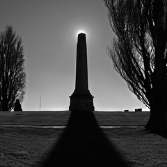 Rising Sun (RolandGataric) Tags: park sun outdoors memorial australia tasmania hobart cenotaph domain iphone 2016 rolandgataric