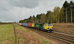 Freightliner Diesel Class 70_70013_4L93_230416_01 (DS 90008) Tags: sky skyline port train woodland landscape suffolk track norfolk railway goods fields freight containers wagons logistics sleepers rollingstock freightliner geml 70013 railtransport freightloco class70 dieselloco 4l93 basfordhall dieseltraction