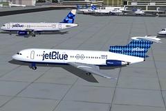 jetBlue Harlequin Trident 4 KJFK (jonf45 - 2 million views-Thank you) Tags: blue 2004 4 flight jet jetblue jb re bae simulator sim harlequin fs trident livery fs9 jbu repaint