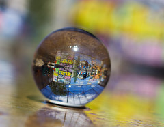 Crystal clear (meldarbordeaux) Tags: light urban france reflection art colors ball town europe bordeaux streetphoto cristal reflets urbex autofocus