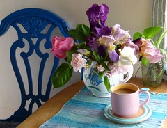 New Pink Cup (Room With A View) Tags: flowers iris cup rose mug bouquet odc