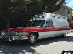 Emergency Ambulance (alasam) Tags: red redwhite cadillac ambulance vintageauto emergencyvehicle yesterdayscar