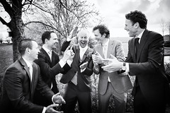 Wedding (siebe ) Tags: wedding portrait people blackandwhite man holland men netherlands monochrome dutch fun groom scenery outdoor joy nederland marriage scene weddingday groupshot trouwen mannen bruiloft trouwdag 2016 weddingphotography bruidegom bruidsreportage trouwreportage bruidsfotografie