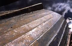 alkalmas (.e.e.e.) Tags: detail reflection film water clouds analog boat slide dia slidefilm analogue filmscan agfaprecisa100 yashicafxdquartz yashicaml1750 epsonv350photoscanner