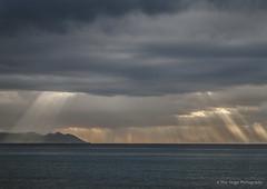 sun rays (Opera.Pink - d s g n) Tags: sea sky espaa sun storm mountains clouds mar andaluca spain cielo nubes tormenta sunrays almera rayosdesol surdeespaa