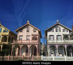 Uploaded to Stockimo (mlovette) Tags: street new houses homes ladies usa house colorful painted victorian may landmarks row historic line jersey cape stockimo