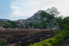 Hampi (Dev Ambardekar) Tags: travel india mountain heritage rocks unesco farms hampi