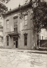 Post Office and Masonic Temple, Facade