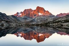 Morning Light on the Mountains (ihikesandiego) Tags: lake sunrise adams banner lakes peak mount mammoth garnet ritter wildnerness ansell