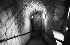 Staircase (tomwilliamevans11) Tags: white black castle history medieval descend bamburgh