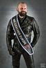 Mr. Leather Europe 2015 (Thorsten) (WF portraits) Tags: portrait hairy man black male leather studio beard sash aut gayleather mrleather mrleathereurope