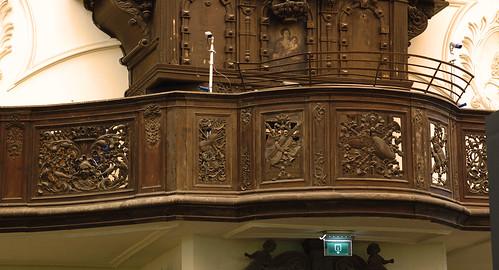 Liège, Wallonië, Église St.-Antoine, organ balcony