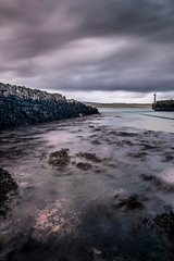 Old pier in orphir (ingrid_b21) Tags: longexposure water clouds island orkney cloudporn ndfilter wetfeet xe1 leakywellies