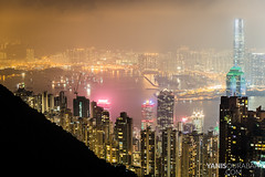 Hong Kong island, bay and Kowloon from Victoria Peak (Yanis Ourabah) Tags: world china lighting street plaza travel light sea hk streets building tower water beautiful skyline architecture night skyscraper buildings asian island hongkong lights bay town office nikon asia cityscape photographer view place skyscrapers angle lyon top centre explorer central wide chinese citylife culture tram peak bank wideangle victoria tourist traveller adventure hong kong explore agency promenade summit getty nightlife financial hsbc finance skyview cityview adventurer agence bankofchina photographe 2016 apartement d610 yanis ourabah