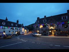 (Claire Hutton) Tags: christmas uk longexposure cars lights timelapse pub traffic display time trails le dorset lapse corfecastle purbecks thegreyhound thebankesarms triggertrap sonya6000 samyang12mm