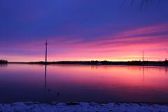 Sunset Palosaari (Riikka's photos) Tags: sunset sea suomi finland campus evening seaside scenery colours talvi meri ilta vaasa auringonlasku 2015 vrit joulukuu palosaari pohjanlahti universityofvaasa